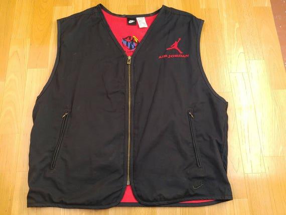 Air Jordan jacket vintage black vest old school NIKE 90s hip  447551c504