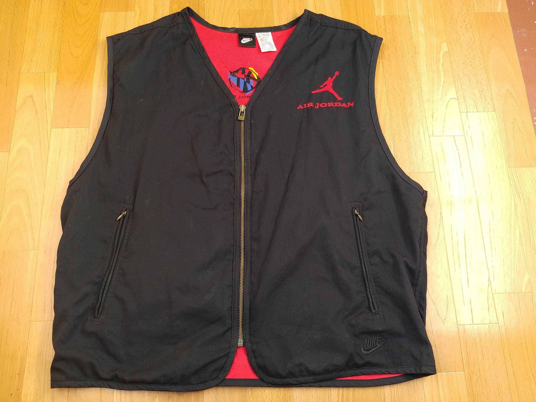 e327512ad1a Air Jordan jacket vintage black vest old school NIKE 90s hip | Etsy