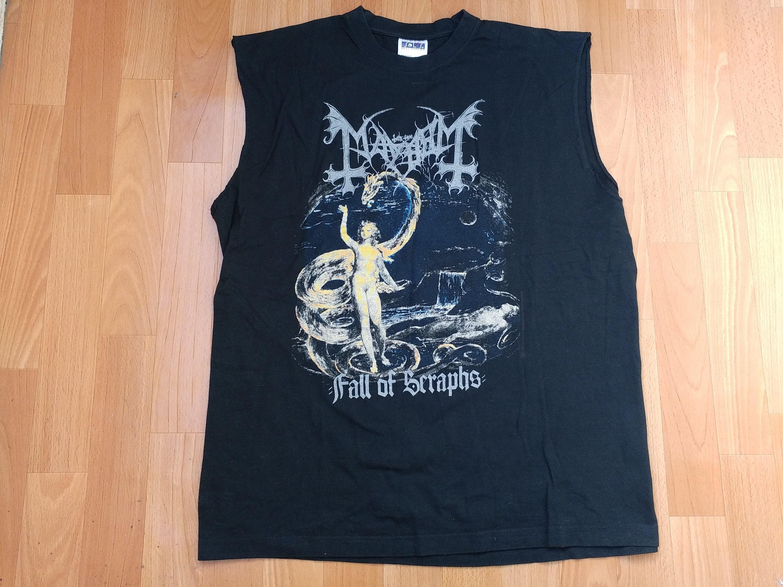 7c23636b Vintage Mayhem t-shirt 1997 Wolf's Lair Abyss Tour 90s   Etsy