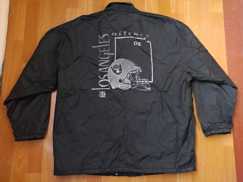 best website 1d7fc c1cbc Oakland Raiders jacket, vintage Los Angeles Raiders coat, offence  windbreaker, football, NFL 90s hip-hop clothing 1990s hip hop, size XL