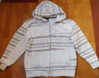 KARL KANI hoodie, white sweatshirt of 90s hip-hop clothing, 1990s hip hop shirt, og, gangsta rap, vintage rap, og, size M Medium
