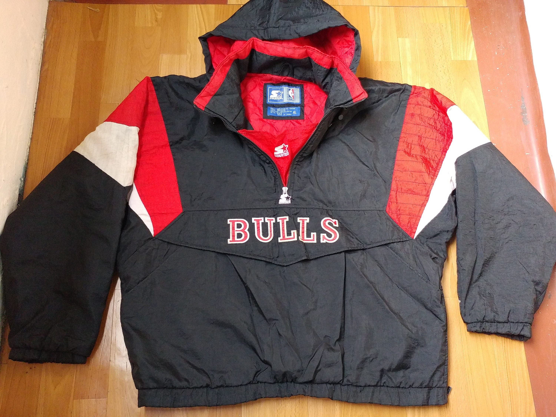 NBA-STARTER Chicago Bulls Jacke schwarze Vintage 1/2   Etsy
