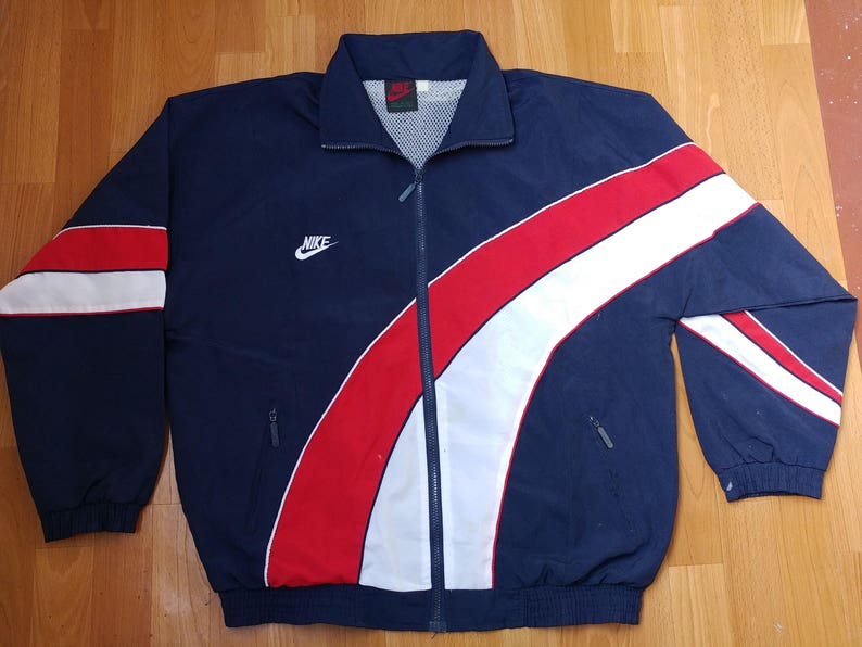47ccf01dec NIKE jacket, vintage tracksuit jacket windbreaker, old school jordan 90s  hip hop clothing, 1990s hip-hop, rap polyester size XL Made in USA