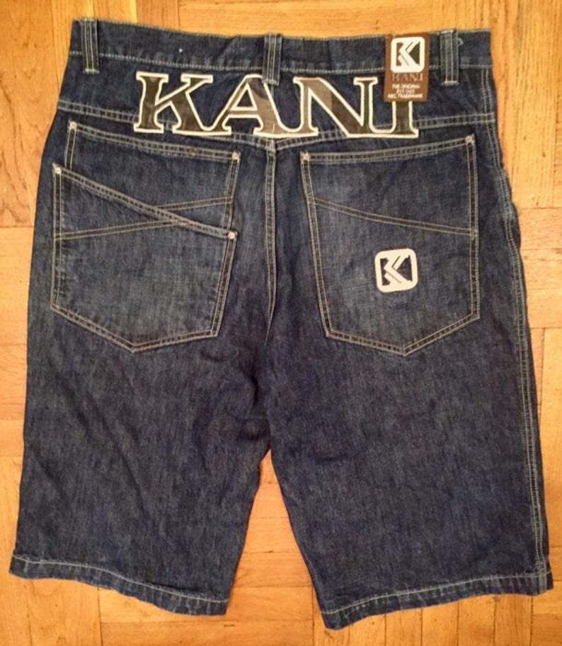 40645e4c4fc83 KARL KANI pantalones cortos shorts de denim vintage de los
