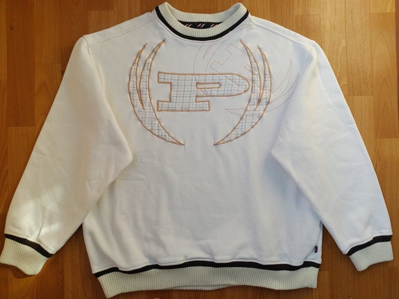 PHAT FARM sweatshirt, white vintage 90s hip-hop clothing, 1990s hip hop  hoodie, sweat shirt, gangsta rap old school streetwear, size 2XL XXL