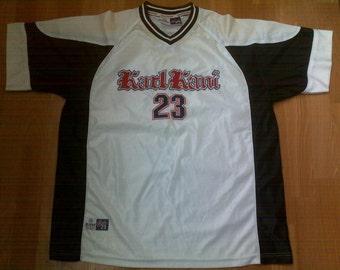 KARL KANI jersey, vintage hiphop t-shirt of 90s hip-hop clothing, 1990s hip hop shirt, gangsta rap, old-school, og, size XL