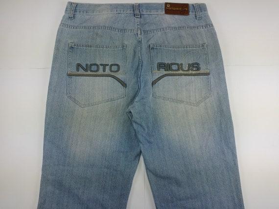 Notorious jeans, Biggie light blue hip hop denim,