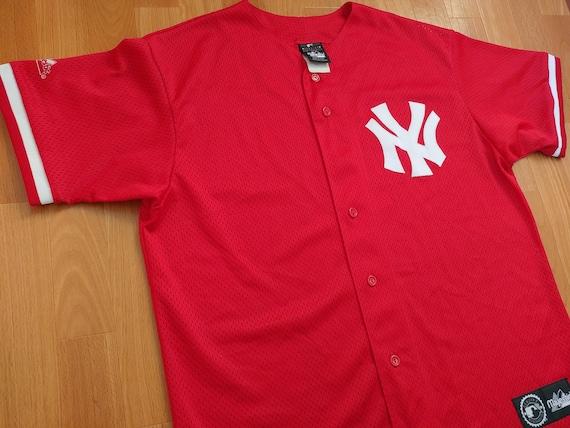 super popular 906b4 ae23b MLB New York Yankees jersey, vintage baseball shirt Majestic 90s hip-hop  clothing 1990s hip hop t-shirt gangsta rap size L Large Made in USA