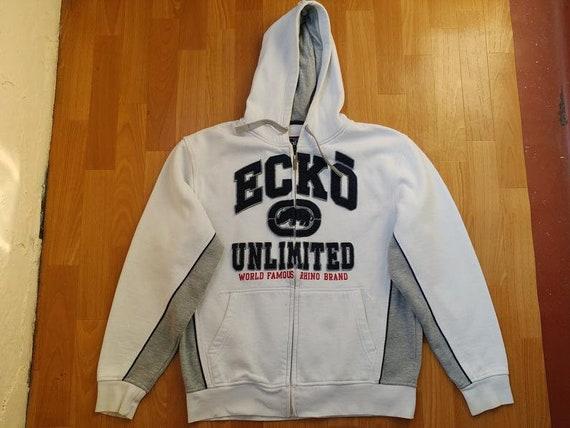 ECKO UNLTD hoodie, white vintage hip hop sweatshir