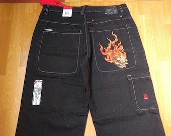 New JNCO jeans deadstock vintage Judge None Choose One baggy pants 90s hip-hop clothing 1990s hip hop, gangsta rap, old school size W 28 NWT