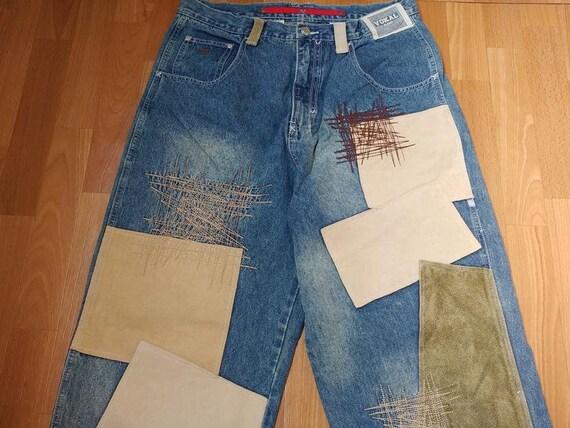 Vokal jeans, blue vintage baggy jeans, old school