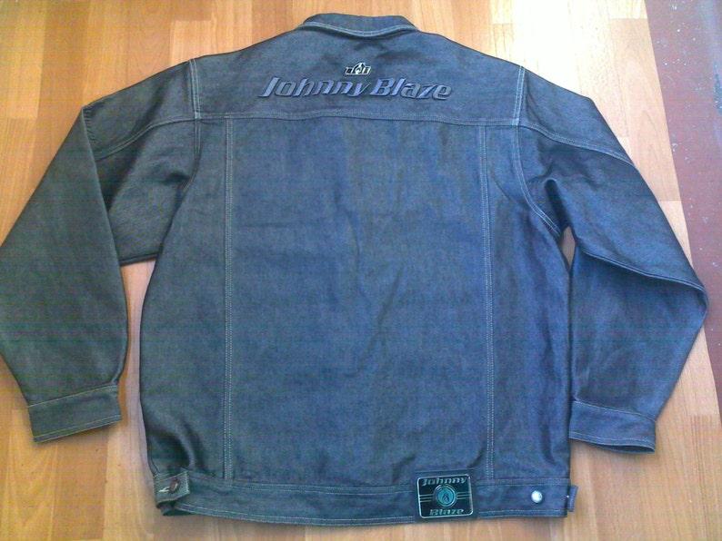 JOHNNY BLAZE jacket, official Wu Wear denim jacket merchandise Method Man  Wu Tang windbreaker, 90s hip-hop clothing 1990s hip hop rap size L