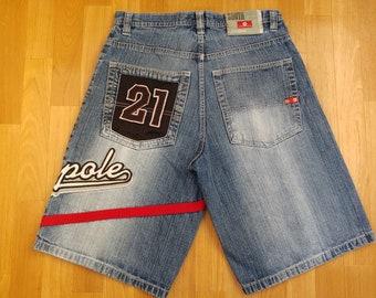 Southpole shorts, vintage baggy jeans, 90s hip-hop clothing, 1990s hip hop shirt, old school South Pole, OG streetwear gangsta rap size W 32