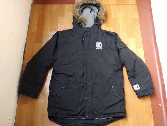 Karl Kani jacket, vintage black hip hop parka jack