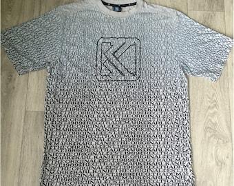 KARL KANI t-shirt, white cotton shirt old-school 90s hip-hop clothing, 1990s hip hop shirt, OG, gangsta rap, size L large