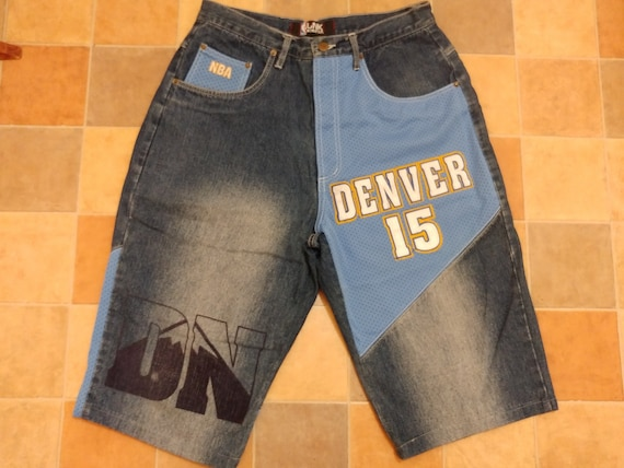Vintage Size 32 UNK Denim Denver Nuggets NBA Blue Jean