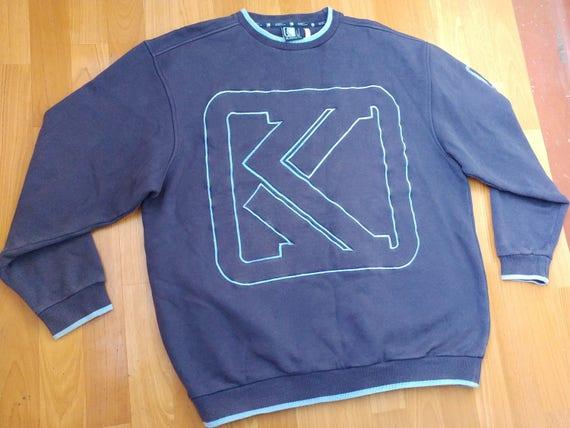 1990s hip hop shirt 90s hip-hop clothing Tommy big logo gangsta rap sewn big logo TOMMY HILFIGER sweatshirt vintage blue shirt size XL