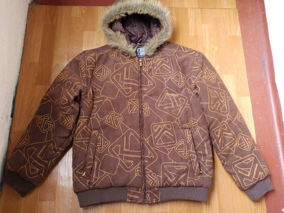 Kani Hop Hip Suede Karl Parka Vintage Etsy Jacket Brown Bw7WAqdS