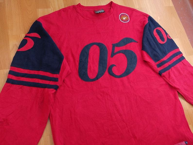 671ad4340 FUBU jersey red 05 vintage Fubu t-shirt old school   Etsy