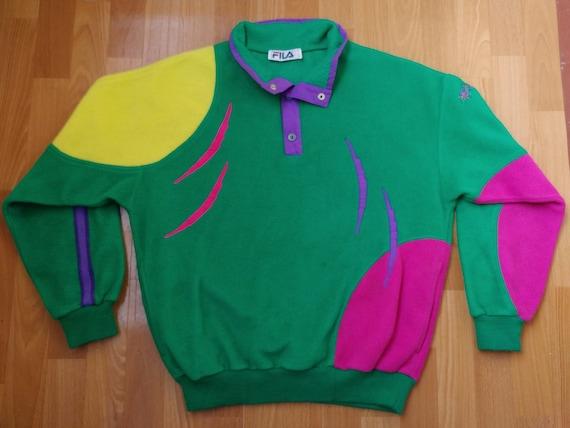 FILA sweatshirt vintage green fleece