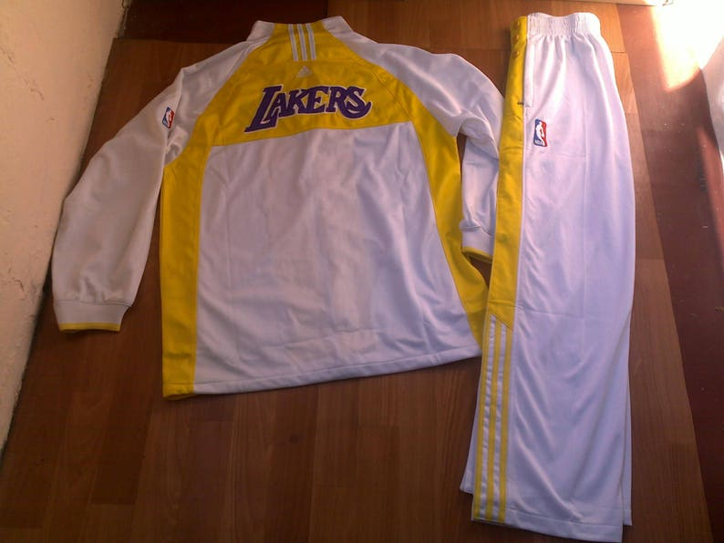 Official NBA Los Angeles Lakers tracksuit vintage Adidas  667a7601e