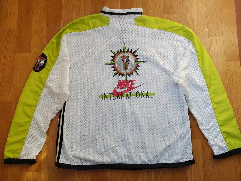 0ea97316f07 NIKE jacket vintage tracksuit jacket windbreaker neon green | Etsy