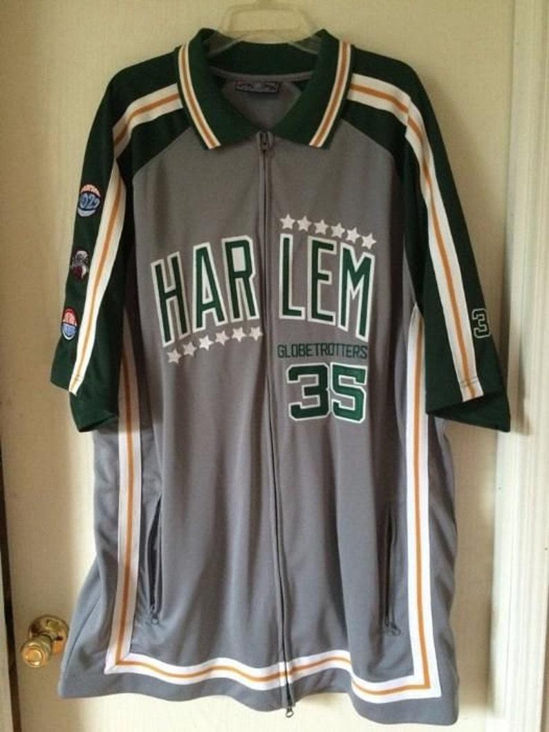 official photos c8598 2baf3 Platinum Fubu jersey Harlem Globetrotters t-shirt green   Etsy
