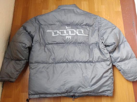 Damani Dada Supreme jacket, nylon puffer down gray
