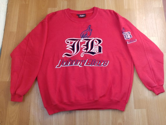 Sweat JOHNNY BLAZE, veste officiel de Wu Wear, méthode homme Wu Tang Sweat à capuche, des années 90 vêtements hip hop des années 1990 hip hop chemise