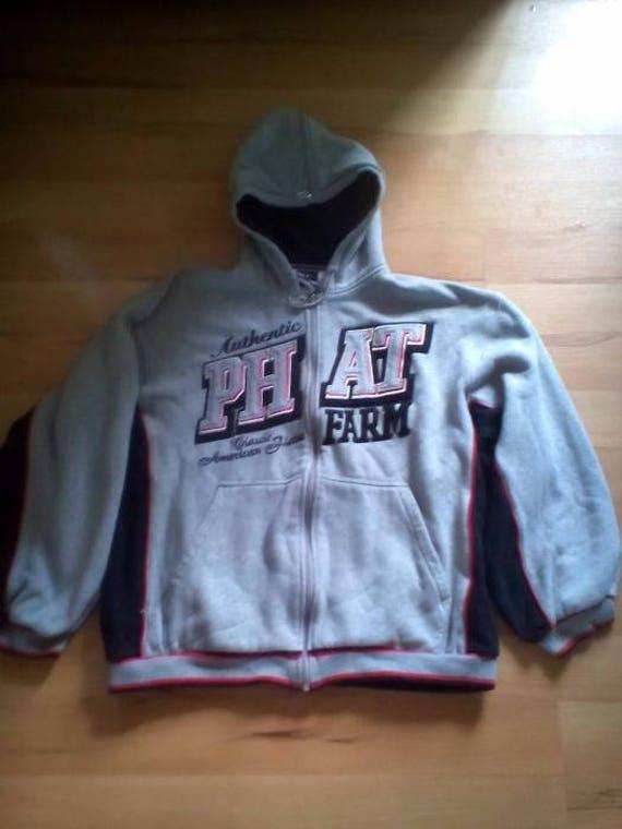 Phat Farm Hoodie Gray Sweatshirt Of Vintage 90s Hip Hop Etsy