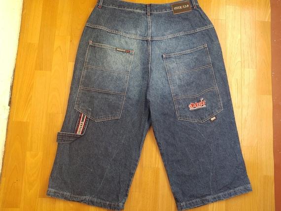Overseas jeans shorts, vintage denim hip-hop short