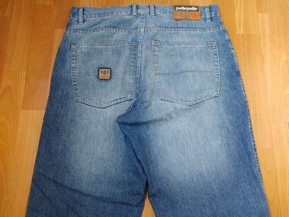 Pelle Pelle jeans, old school blue baggy jeans vin