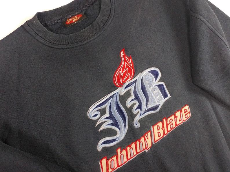official Wu Wear jacket JOHNNY BLAZE sweatshirt 90s hip-hop clothing 1990s hip hop shirt og gangsta rap size XL Method Man Wu Tang hoodie