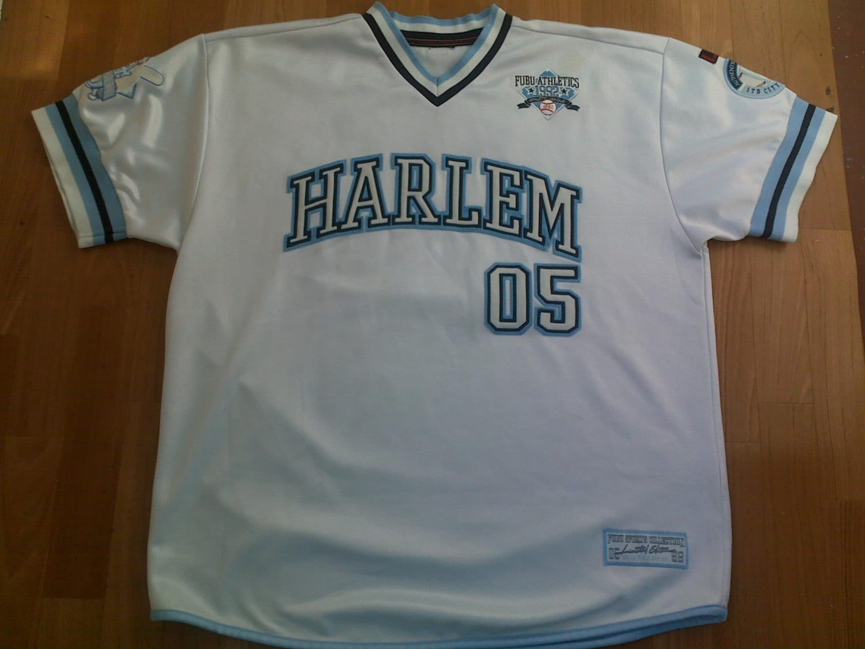 FUBU Jersey Jahrgang weiß HARLEM T-shirt New York-Shirt   Etsy