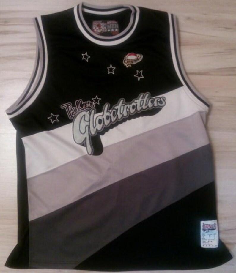 outlet store ce755 698df Fubu jersey Platinum Harlem Globetrotters vintage t-shirt   Etsy