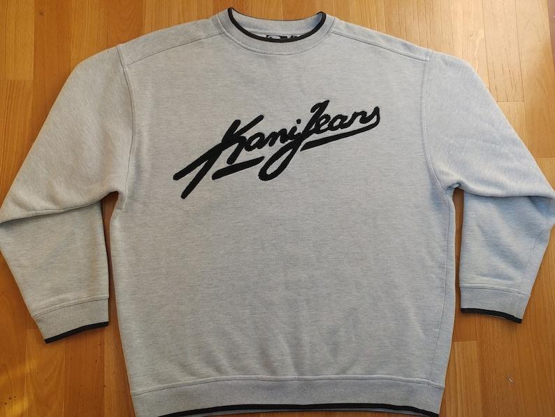 78304f0fd24d KARL KANI sweatshirt gray hoodie of 90s hip-hop clothing   Etsy