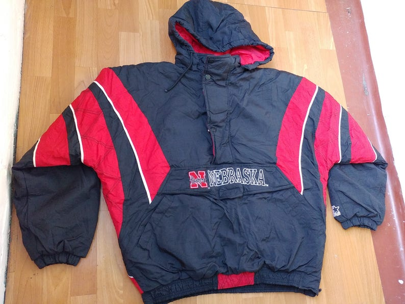 775ab174a NFL STARTER Nebraska Huskers Jacket vintage 1 2 half zip