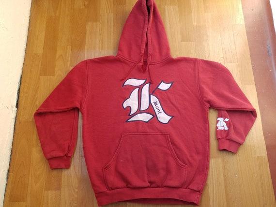 Sweat à capuche KARL KANI, Sweat vintage hip hop des 90 s hip hop vêtements, chemise des années 1990, streetwear gangsta rap old school rouge tshirt