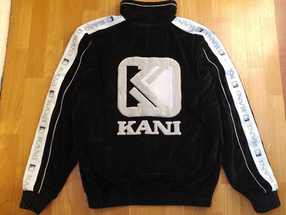 Karl Kani jacket, vintage black velour hip hop jac
