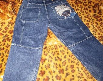 EXCO jeans vintage baggy jeans 90s hip-hop clothing, 1990s hip hop shirt, OG platinum fubu, gangsta rap, size 36