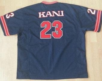 KARL KANI t-shirt, vintage jersey, 90s hip-hop clothing, 1990s old-school rap, OG, size L