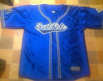 SOUTH POLE jersey, vintage Southpole t-shirt, blue 90s hip-hop clothing, 1990s hip hop shirt, og, gangsta rap, size XL