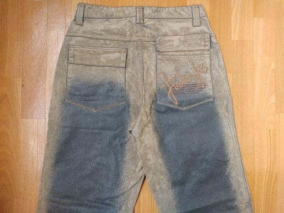 FUBU jeans, suede vintage baggy jeans, carpenter l