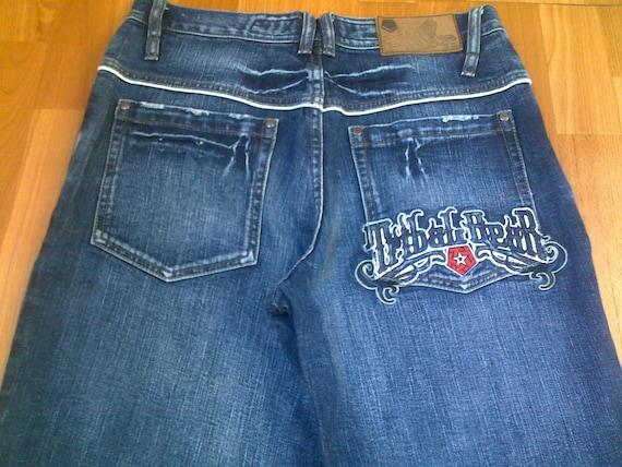Bleu de TRIBAL Gear jeans vêtements hip-hop de jeans des baggy vintage des jeans années 90, années 1990 hip-hop chemise, OG, lowrider, clemence, gangsta rap taille W 32 e5bec7