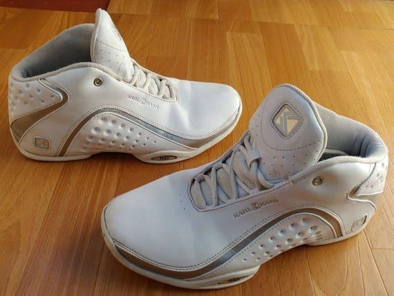 KARL KANI sneakers, vintage hip hop schoenen, jaren 90 hip hop kleding, jaren 1990 witte basketbal Jordan, mannen de maat 8 vs 41 eu, zeldzame!!!