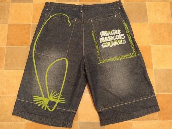 Marithe Francois Girbaud jeans shorts, vintage bag