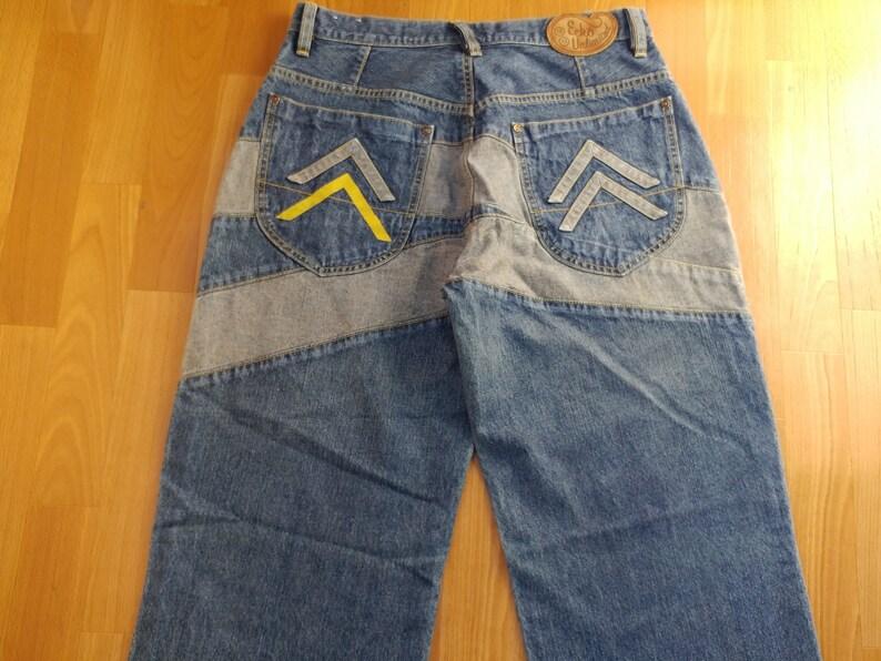 Ecko Unltd jeans, vintage baggy jeans, 90s hip-hop clothing, 1990s hip hop  shirt, old school streetwear, gangsta rap, OG, size W 32