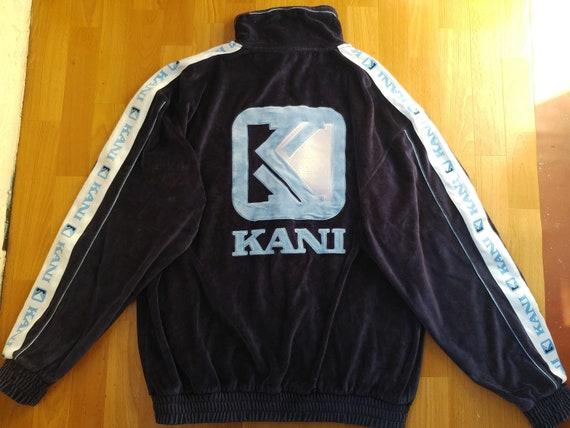 Karl Kani jacket, vintage blue velour hip hop jack
