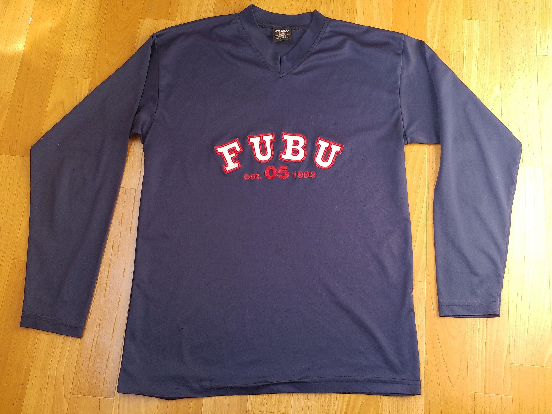 d429f96dd FUBU jersey vintage blue Fubu t-shirt longsleeve shirt of   Etsy