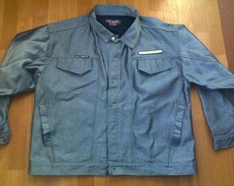 WU WEAR jacket, Wu Tang jacket, official Wu tang Clan denim jacket, vintage shiny denim jacket, 90s hip-hop, Method Man size XL